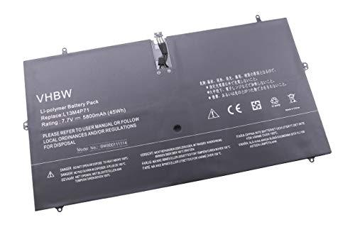 vhbw Li-Polymer Batterie 5800mAh (7.7V) pour Ordinateur Portable, Notebook Lenovo Yoga 3 Pro, 3 Pro 1370, 3 Pro 1370 13.3\