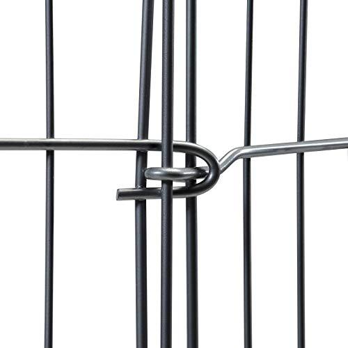 8-teiliges Freilaufgehege verzinkt mit Netz und Tür Ø ca. 204 cm - 2