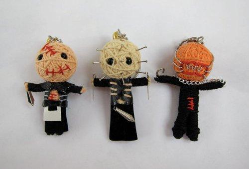 hellraiser-cenobites-set-of-3-horror-voodoo-string-doll-keychain-pinhead-chatterer-butterball