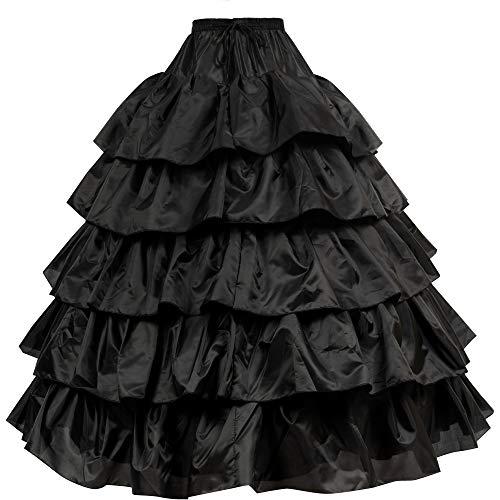 Reifrock Unterrock Petticoat Damen Hochzeitskleider Underskirt Krinoline Brautkleider mit Schichten...