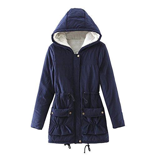 JURTEE Damen 2019 Jacken Winter Warm Outwear Solide Mit Kapuze Taschen Vintage Oversize ()