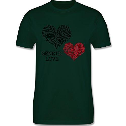 Romantisch - Genetic Love Fingerabdruck - Herren Premium T-Shirt Dunkelgrün