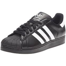 Adidas Superstar II - Zapatillas para hombre, color negro / blanco, talla 43 1/3