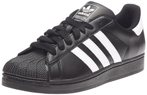 adidas Originals Superstar II, Baskets mode homme - Noir (Noir/Blanc/Noir), 45 1/3 EU