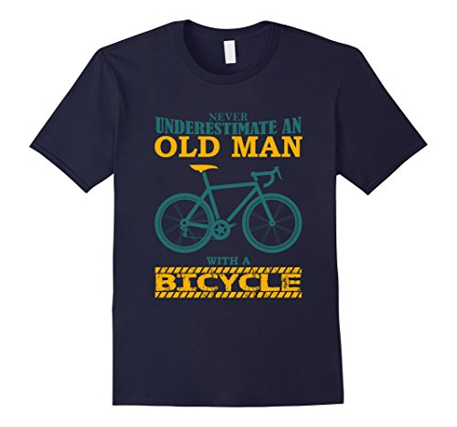 old-man-with-a-bicycle-t-shirt-funny-gift-for-grandpa-shirt-herren-grosse-m-navy
