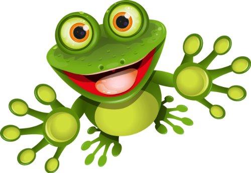 12 x 8 cm - Konturschnitt - Autoaufkleber lustiger Frosch Kröte funny cool Sticker Aufkleber fürs Auto Motorrad Handy Laptop outdoor / indoor (Lustig-laptop-aufkleber)