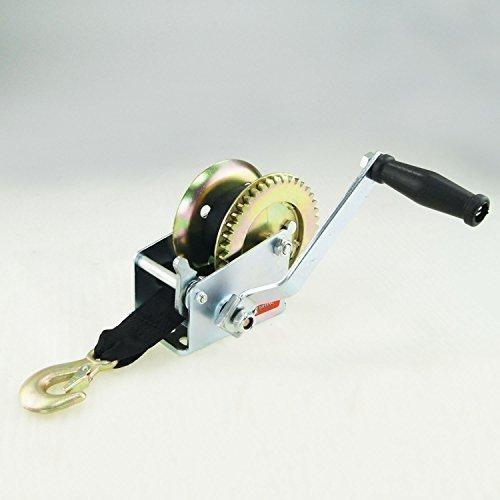 Katsu Tools Unisex Heavy Duty Hand Winch Gürtel Auto Trailer Boot-Werkzeug mit Haken Gurtband, mehrfarbig, - Boot Gurt Trailer
