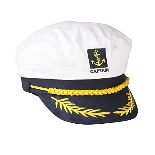 än Hat Schiffs-Boots Kapitän Hat Navy Marine-Skipper Seemann Cap Adjustable Wasser Cap für Frauen und Männer ()