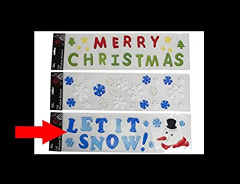Grand Gel de Noël autocollants de fenêtre - Snowman Conception