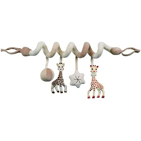 Vulli 220107 So' Pure - Espiral de actividades para cochecito y cuna, diseño Sophie la jirafa