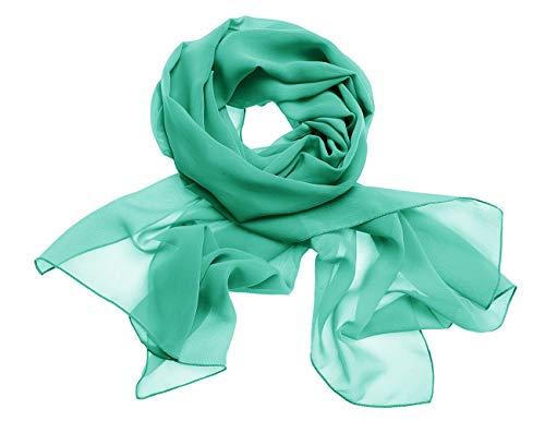 Dresstells Chiffon Schal Stola für Abendkleider in Verschiedenen Farben Green 200cmX75cm/ Large