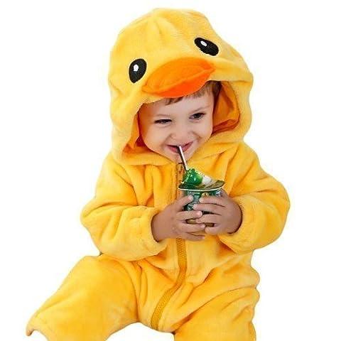 Baby Toddler Boys Girls Yellow Easter Chicken Duck Animal Onesie