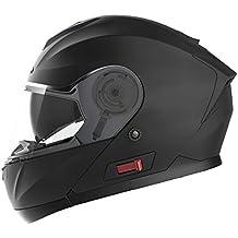 Casco Moto Modular ECE Homologado - YEMA YM-926 Casco de Moto Integral Scooter para