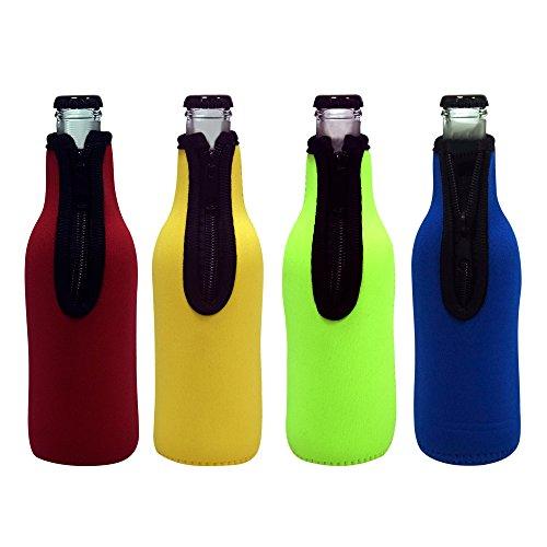 Acelane Funda de Neopreno Para Refrigerar Botella de Agua -Enfriador de Cristal Porta Cerveza Térmico - Para Contenedor de 12 oz / 330 ml (PURECOLOR)