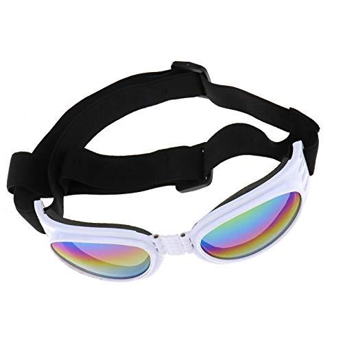 ENET Anti-Wind-Brille für Hunde und Hunde, Weiß