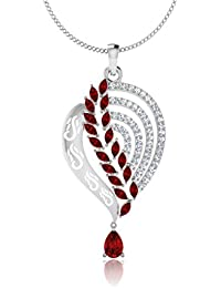 IskiUski  White Gold, Diamond And Ruby Pendant For Women