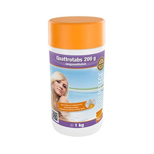 Steinbach Poolchemie Quattrotabs, 200 g langsamlöslich, 1 kg, Desinfektion, 0752601TD08