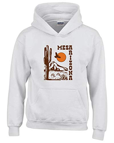Weiße Arizona Sweatshirt (Speed Shirt Kapuzen-Sweatshirt fur Kinder Weiss TSTEM0061 MESA Arizona)