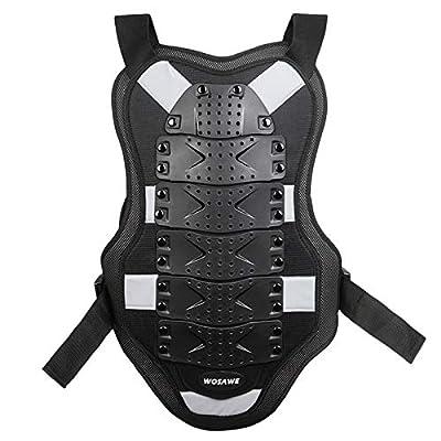 FQXM Motorrad-Schutzkleidung Fahrrad Rüstung Kleidung Sportschutzweste Knieschützer Ellbogen Sport Five-Piece/Reflektor-Streifen