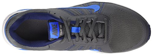 Nike Herren Dart 12 Laufschuhe Grau (Dark Grey/photo Blue/binary Blue)