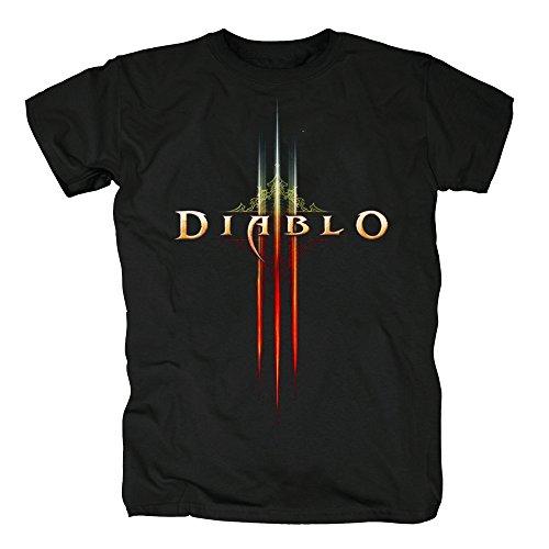 TSP Diablo III - Logo T-Shirt Herren M (Kostenlos Kostüme Minecraft)