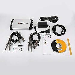 Owon VDS2064L Osciloscopio portátil 60 MHz 4 + 1 Canales Registro USB Almacenamiento Generador de Forma de Onda Multímetro Espectro