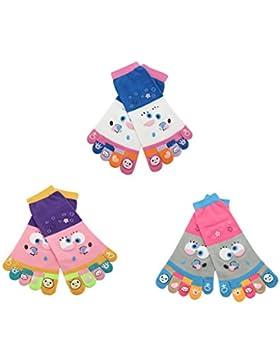 BONAMART ® Damen Frauen 5 Zehen Socken Zehensocken Toe Socks 34-40 Starfish