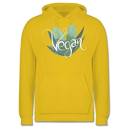 Statement Shirts - Vegan Lettering - Männer Premium Kapuzenpullover / Hoodie Gelb