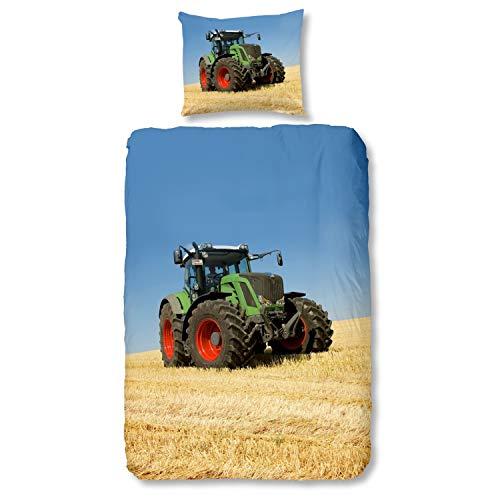 Good Morning! 4208-P bettwäsche mit Traktor, 100{f70d2dd77c3df7d43340273deda9da99b73fdb4b1f67fb96fc6ef67cf99a3754} Baumwolle, Multi Colour, 200x135x0.5 cm