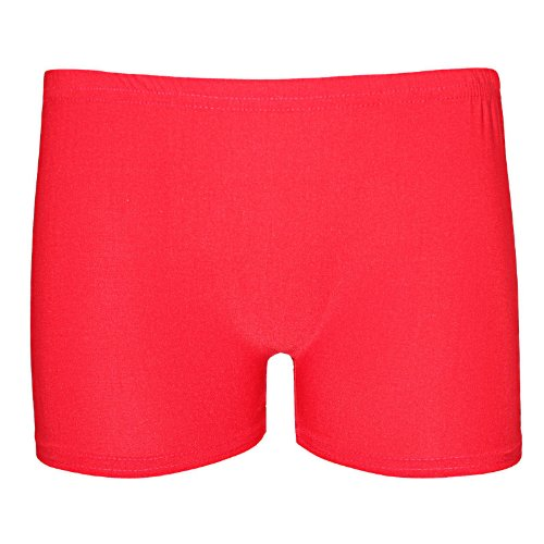 Stretch pour femme Uni-Short Short Sexy style fête Danse Taille 36–42 Rouge - Rouge
