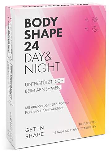 BODYSHAPE 24 Day & Night Abnehmtabletten (Grüner Kaffee, Grüntee Extrakt, Kurkuma Extrakt etc.) - Unterstützung beim schnell Abnehmen von Get in Shape
