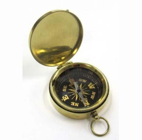 Enfield County Vintage Taschen-Kompass mit Deckel, 4,5 cm