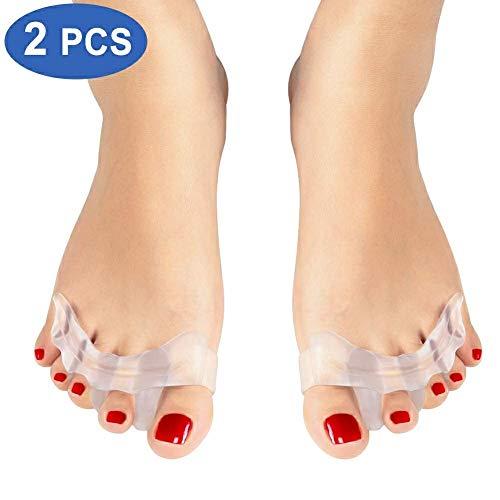 Separatore dita piede, alluce valgo correttore per giorno e notte, protezione per dita a martello per uomini e donne, silicone bunion corrector per calze e scarpe aiuta ad alleviare il dolore