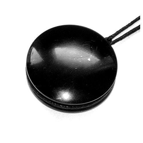 Schungit Stein massiv schwarz Persönliche Schutz Anhänger verschiedene Formen für Männer für Frauen resizable Halskette (Vermögen) Fortuna-form