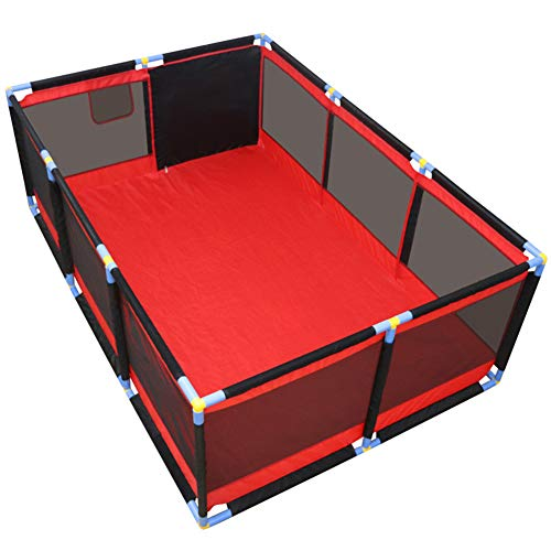 Recinzione del Bambino, Kids10 Panel Playard Box Recinzione Portatile da Gioco Lavabile con Custodia per Il Trasporto Maglia Traspirante per Neonati Toddler, Indoor E Outdoor 190cm