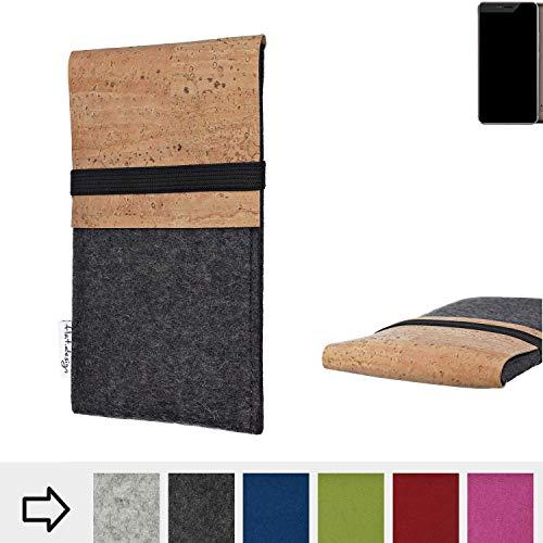 flat.design Handy Hülle SAGRES für Allview X4 Xtreme Made in Germany Handytasche Filz Tasche Schutz Case fair Kork