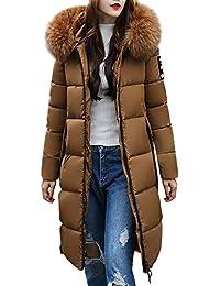 Innerternet Warme Damen Winter Jacke Steppjacke Lange Daunenjacke Outwear  Übergangsmantel Parka Mantel mit Kapuze Lässig Dicker 71b2abaf84