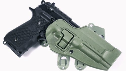 BLACKHAWK! S.T.R.I.K.E. CQC Platform with Serpa Holster for Beretta, Foliage Green, Right Hand