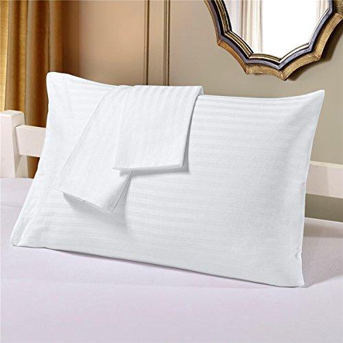 Cloth Fusion Cotton 2 Piece Pillow Covers Set (White, 18