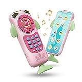 TUMAMA Baby Spielzeug Smartphone Early Learning Small Touch Toy Fernbedienung, Touch Phone mit Sound und Musik Geburtstagsgeschenk für 9, 12, 18 Monate, 1, 2 Jahre, Kleinkinder, Jungen,...