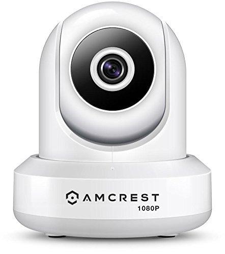 Amcrest 1080P WiFi-Überwachungskamera 2MP (1920TVL) Funk-IP-Kamera mit Schwenk-/Neigefunktion für den Innenbereich, Heimvideoüberwachungssystem mit IR-Nachtsicht, Zwei-Wege-Gespräch IP2M-841W (Weiß)