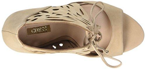 Guess Lea03, Sandali con lace alla caviglia, Donna Beige