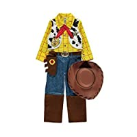 Disney Pixar Toy Story Woody fancy dress 3-4yrs Boys Cowboy Costume with Hat, Necktie & Sheriff