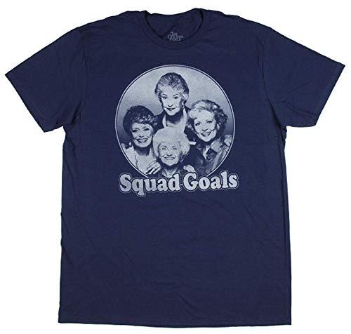 Golden Girls Shirt Adult Squad Goals Photo T-Shirt - Golden Ash Grey-t-shirt