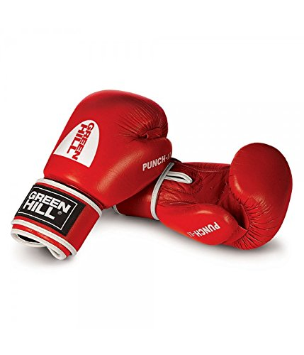 Green Hill 'Punch II' Boxhandschuhe / Farbauswahl / Oz Auswahl (Rot, 16)