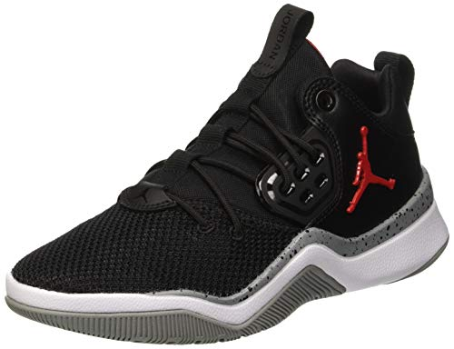 NIKE Jungen Jordan DNA Bg Basketballschuhe, Schwarz (Black/University Red/Particle 023), 37.5 EU