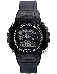 VK Sales Watch With Led Light | Black Dial | Black Belt | Fabulous Look Of Watch | Casual Wear | Suitable For...
