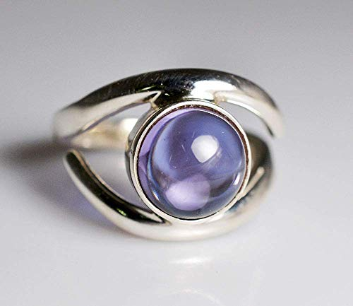 100% Farbwechsel Labor Erstellt Alexandrit 925 Sterling Silber Ring 14 bis 22 DE (Alexandrit Silberring)