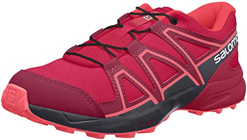 Salomon Kinder SPEEDCROSS J, Trailrunning-Schuhe, Rot (Cerise/Navy Blazer/Dubarry), Größe 34