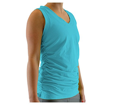 Alex + Abby Damen T-Shirt ärmellos - Blau - Mittel